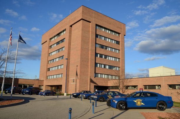 Michigan State Police cars at the Training Academy, Image: Joe Ross/Flickr
