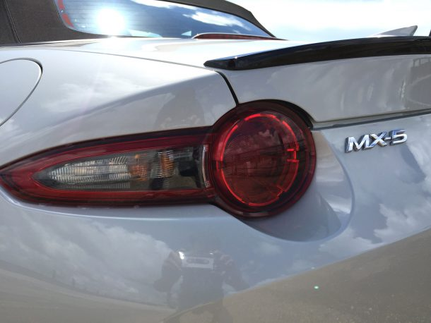 2017 Mazda MX-5 tail light brake light, Image: © 2016 Sajeev Mehta/The Truth About Cars