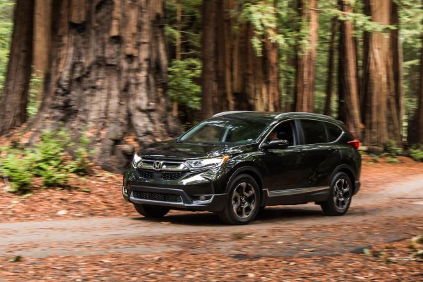 2017 Honda CR-V Green in forest, Image: © 2016 Mark Stevenson/The Truth About Cars