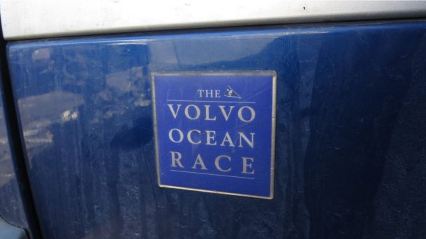 2002 Volvo V70XC Ocean Race in Colorado junkyard, fender emblem - ©2017 Murilee Martin - The Truth About Cars