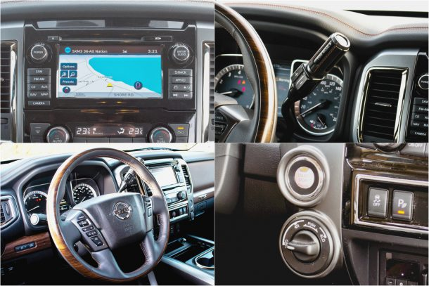 2017 Nissan Titan Platinum Reserve interior detail Image: © Timothy Cain/The Truth About Cars