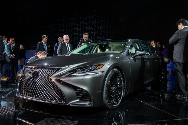 2018 Lexus LS at NAIAS Front 3/4, Image: © 2017 Mark Stevenson/The Truth About Cars