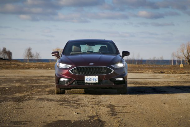2017 Ford Fusion Sport Front, Image: © 2017 Jeff Wilson