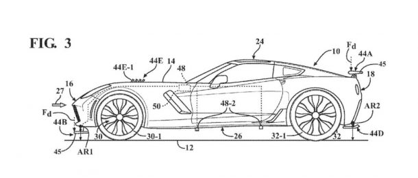 Chevrolet Corvette Active Aero Patent, Image Source: USPTO