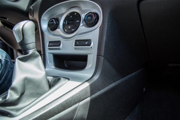 2015 Ford Fiesta Center Console from Passenger Side, Image: © 2017 Mark Stevenson/The Truth About Cars