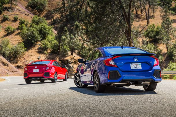 2017 Honda Civic Si Coupe Red and Blue in Canyon, Image: © 2017 Mark Stevenson/The Truth About Cars