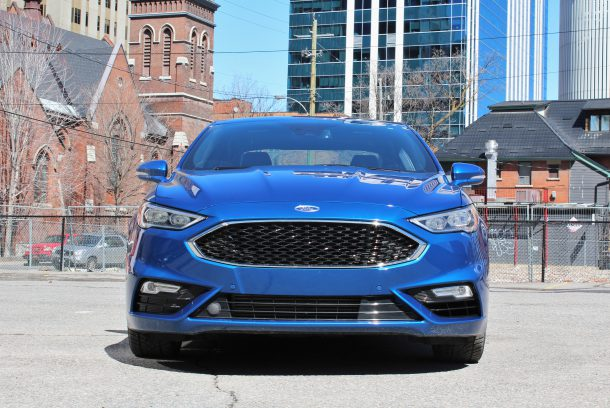 2017 Ford Fusion Sport front, Image: © 2017 Steph Willems/The Truth About Cars