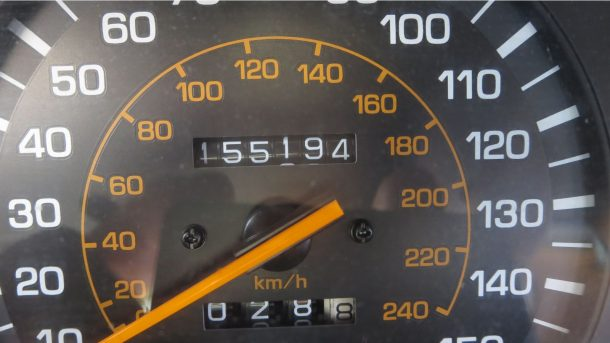 1991 Toyota Camry in Colorado wrecking yard, speedometer - ©2017 Murilee Martin - The Truth About Cars