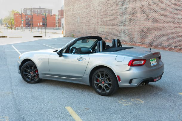 2017 Fiat 124 Spider Abarth rear quarter