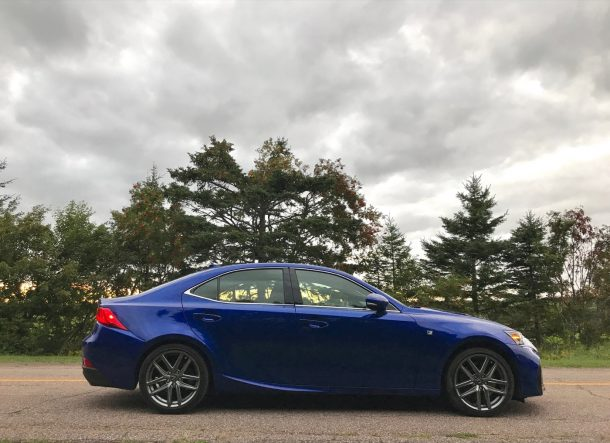 2017 Lexus IS350 F Sport AWD profile - Image: © Timothy Cain