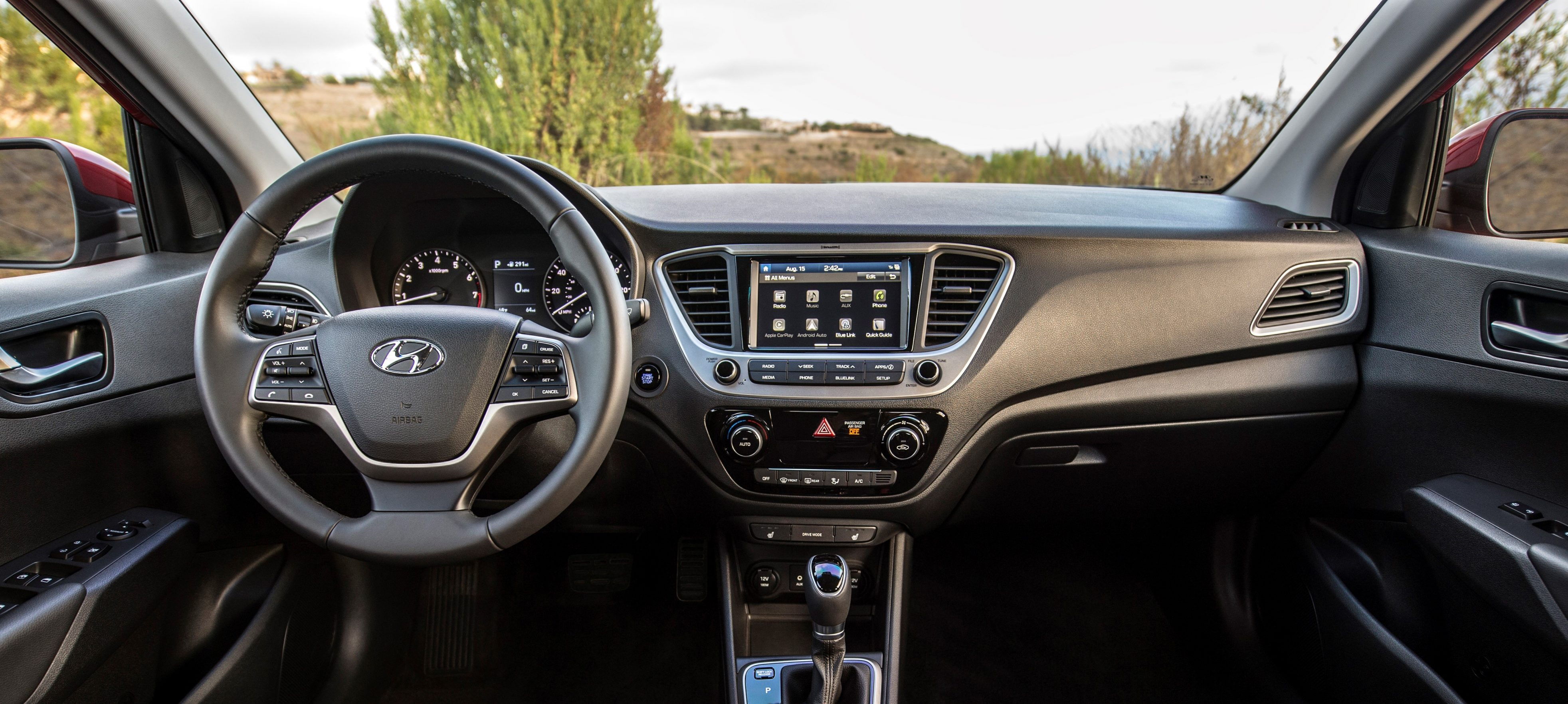 hyundai accent ditches hatchback for 2018 redesign. Black Bedroom Furniture Sets. Home Design Ideas