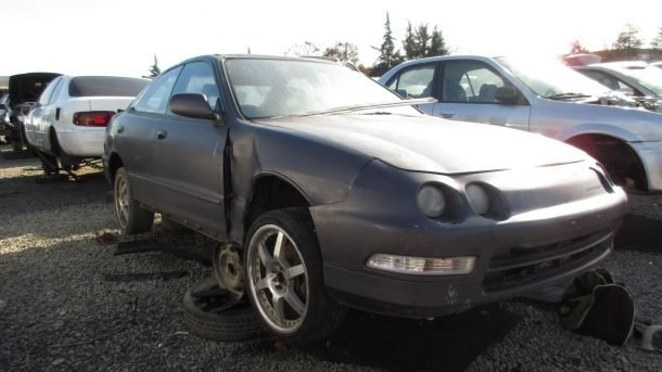 1994 Acura Integra In California Wrecking Yard RH Front View