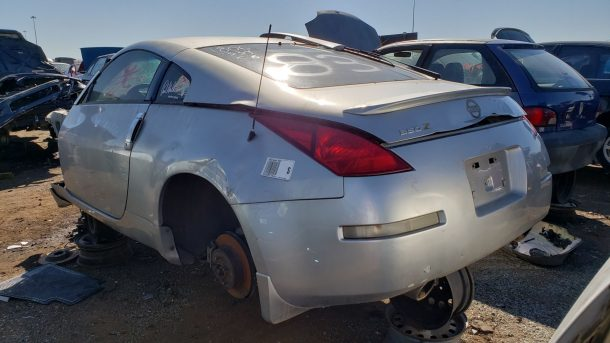 2003 Nissan 350Z in Colorado wrecking yard, LH rear view - ©2018 Murilee Martin - The Truth About Cars