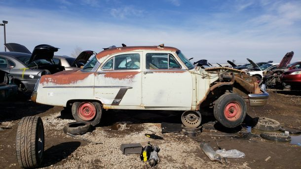 1952 Mercury in Denver wrecking yard, RH view - ©2019 Murilee Martin - The Truth About Cars