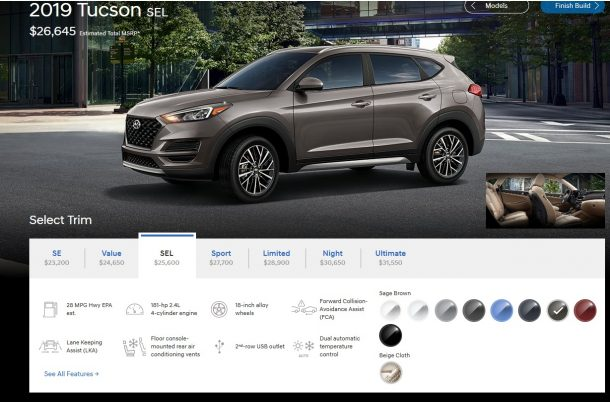 2019 Hyundai Tucson Screenshot