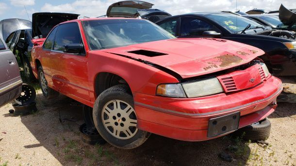 1993 Chevrolet Lumina Z34 in Colorado wrecking yard, RH front view - ©2019 Murilee Martin - The Truth About Cars