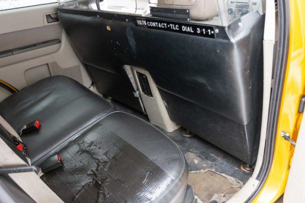 2012 Ford Escape Hybrid Taxi rear seat 2