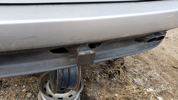 2002 BMW X5 in Colorado junkyard, trailer hitch - ©2020 Murilee Martin - The Truth About Cars