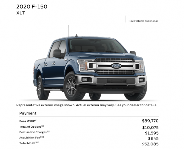 F150 Build And Price