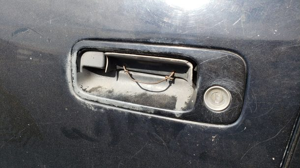 1997 Toyota Camry CE in Colorado junkyard, door handle repair - ©2020 Murilee Martin - The Truth About Cars