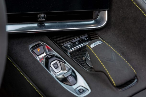2020 Chevrolet Corvette controls