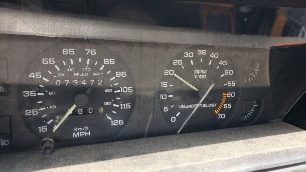 1991 Chrysler TC by Maserati in Colorado junkyard, gauge cluster - ©2021 Murilee Martin - The Truth About Cars