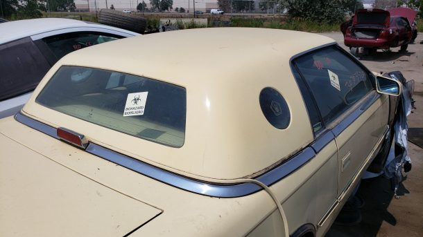 1991 Chrysler TC by Maserati in Colorado junkyard, hardtop roof - ©2021 Murilee Martin - The Truth About Cars