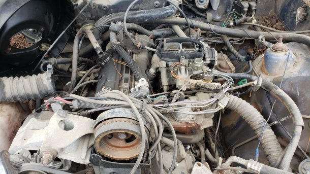 1984 Chevrolet Chevette in California junkyard, engine - ©2021 Murilee Martin - The Truth About Cars